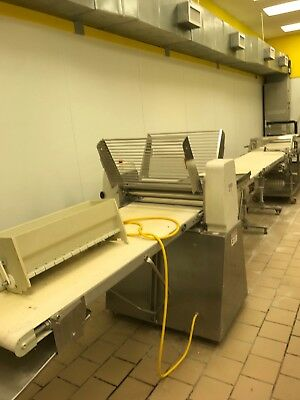Rondo Xsfs-611 Dough Sheeter Rondo PTT150 c Transfer Table and cutter table