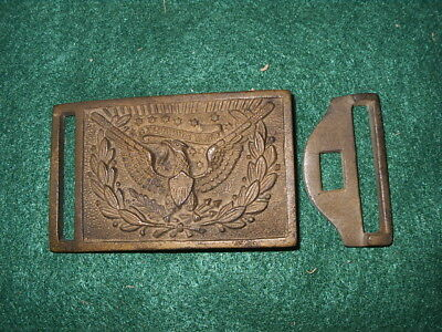US  CIVIL WAR BRASS BUCKLE with KEEPER
