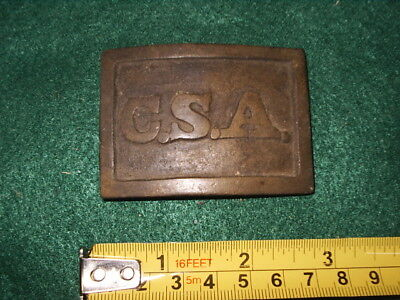 Us  Civil War Brass Buckle  Cs