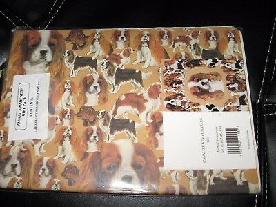 "Cavalier King Charles Spaniel DOG Wrapping Paper 4 Sheets 19.5"" x 27.5"" Gift Tag"