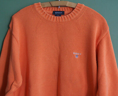 """vintage GANT thick jumper knit sweater pull m-l chest 40-42""""designer casual vgc"""