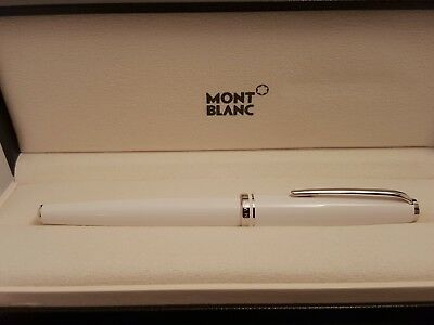 MONTBLANC Cruise Collection Platinum Line Luminous White Rollerball Pen, MINT!