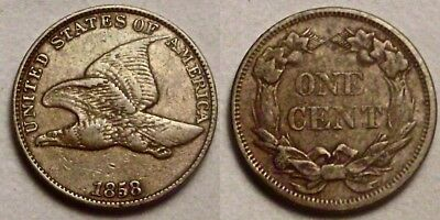 1858 Flying Eagle Cent__VF / XF__large letters