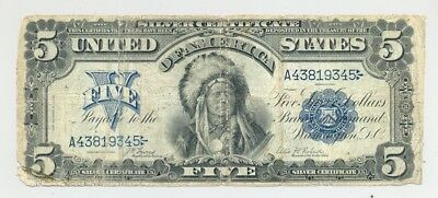 $5 Series 1899 Chief Silver Certificate, nice looking and no reserve