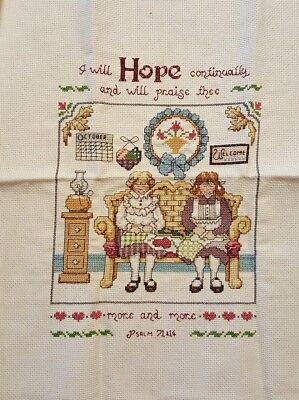 Jeremiah Junction Hope Collectible 2 Completed Cross Stitch