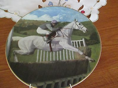 A royal doulton collectors gallery edition plate - Desert Orchid