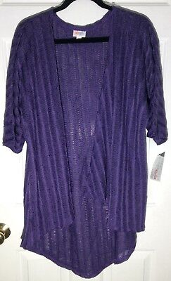 Lularoe Knitted Purple Lindsay Small Kimono Cover Up New With Tags