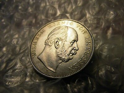 German States 1871-A Prussia Silver Thaler Victory Over France Aunc Coin
