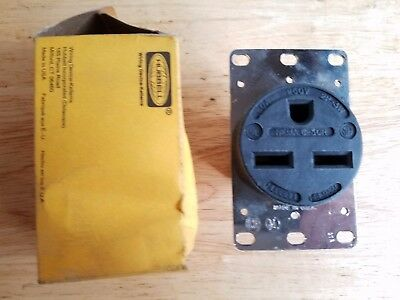 NOS New Old Stock HUBBELL HBL9330 Receptacle 30A 250V Nema 6-30R 2P-3W