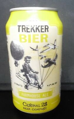 Trekker Bier Farmhouse Ale - empty craft beer can - Central 28 Beer - DeBary, FL