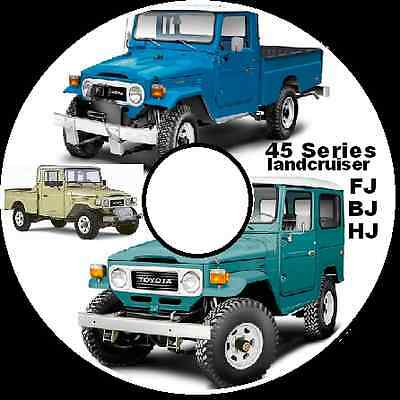 Toyota Land Cruiser Fj40,43,fj45,55,hj47,bj40,42,45,restoration Workshop Manual