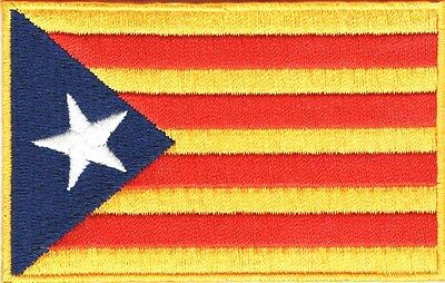 PARCHE bordado en tela BANDERA CATALUÑA ESTELADA, EMBROIDERED PATCH