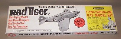"Vintage Scientific  ""Red Tiger P-40"" Control Line Model Airplane Kit"