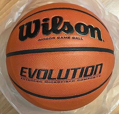 "Wilson Evolution Official Size Game Basketball WTB0516 Size 7 Mens - 29.5"" NEW!!"