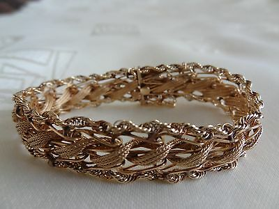 14K  Gold   Ladies   Bracelet   /22 grams/