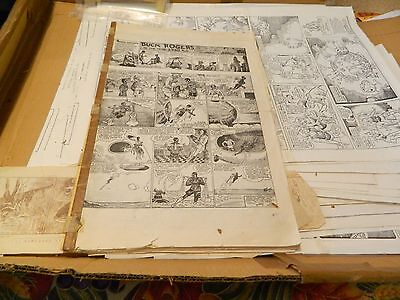 Vintage Buck Rogers Sunday Black & White Comic Copies In Book #1 To #34  USED