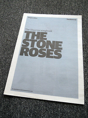 The Stone Roses Observer Songbook Newspaper Supplement 18 May 2008 . Not Cd Dvd