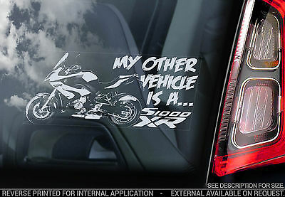 My other vehicle is a BMW S1000XR -Car Window Sticker- S1000 XR Decal Motorbike