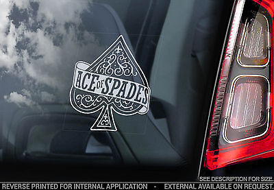 Motorhead - Car Window Sticker - Ace of Spades Album Warpig Snaggletooth - V04