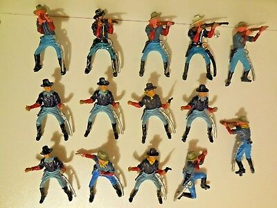 Vintage Britains ACW 8th Cavalry Plastic Toy Soldiers 1:32
