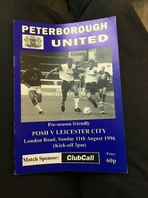 Peterborough United V Leicester City 11 Aug 1996 Friendly