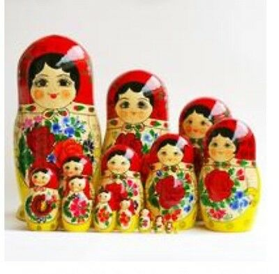 Russian Babushka Matryoshka Nesting Doll 15piece (Hugh 30cm) Made in Russia