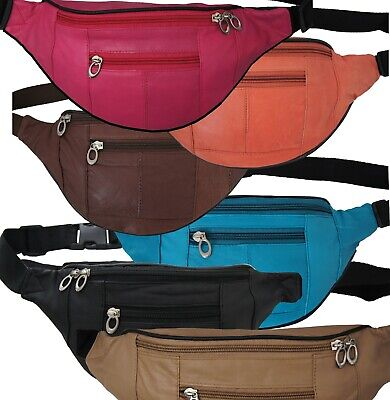 Joggers Leather Color Fanny Pack Waist Belt Bag Purse Hip Small Travel Pouch New