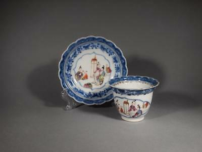 Fabulous Chinese 18th c. Mandarin Cup and Saucer