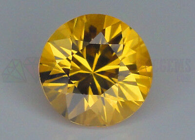 Ceylon Yellow Sapphire VS 7mm Round 1.53ct Loose Natural Gemstone Sri Lanka