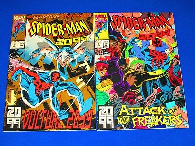 Lot of 2 SPIDER-MAN 2099 Issues 7 and 8 [Marvel 1992] VF/NM or Better