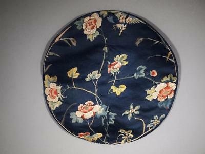 Antique Chinese Qing Dynasty Round Embroidered Silk Textile