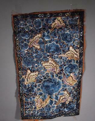 Beautiful Antique Chinese Qing Dynasty Embroidered Silk Textile