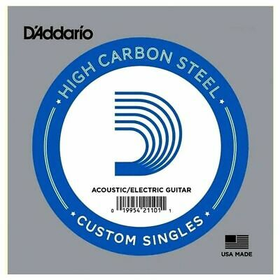 5 x D'Addario PL020 Single Plain Steel .020 Acoustic or Electric Guitar Strings