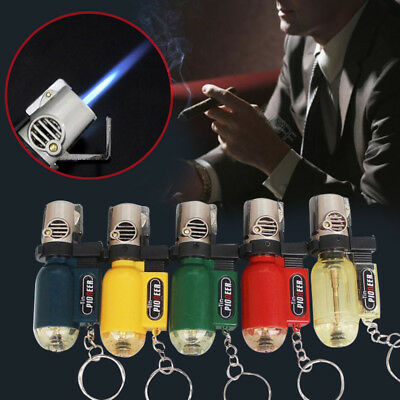 5 Colors Windproof Straight Refillable Butane Gas Pendant to gas torch lighter