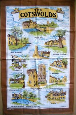 Souvenir Tea Towel THE COTSWOLDS 100% Cotton New UNUSED
