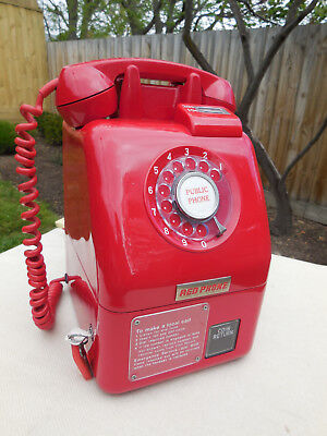 Vintage Telephone Red Payphone Phone  C1975   *Spectacular*