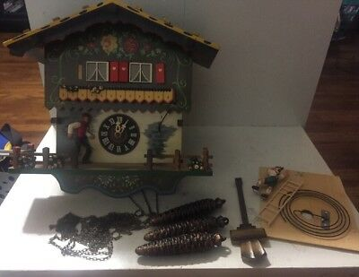 Vintage Schmeckenbecher Regula Mechanical Cuckoo Clock West Germany