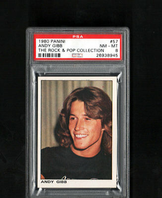 1980 ANDY GIBB PSA 8 Panini Rock and Pop Collection # 57 POP 1 Highest