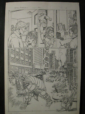 Tom Lyle Tryout Page For Marvel Captain America #316 Page 13