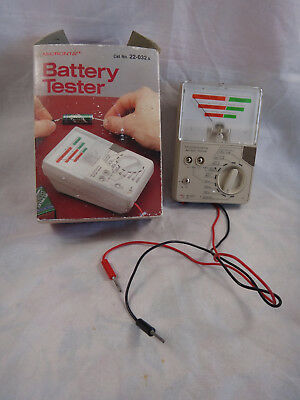 Vintage Micronta Battery Tester 22-032A ~ Regular, Button Cell, Ni-Cd, Lithium