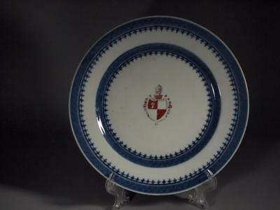 Chinese Export Armorial Plate circa 1790 Elinor Gordon Label