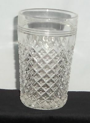 "Anchor Hocking MISS AMERICA CRYSTAL *4"" JUICE TUMBLER*"