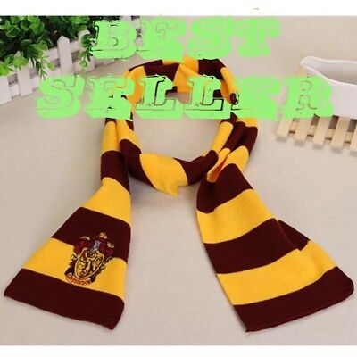 Harry Potter Yellow & Maroon  Gryffindor Striped Scarf High Quality