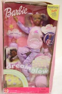 2001 Dream Glow Barbie Doll---Huggable Soft Body---Star Pajamas---Glow in Dark