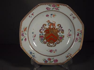 Chinese Export Armorial Chien Lung Period Plate circa 1765