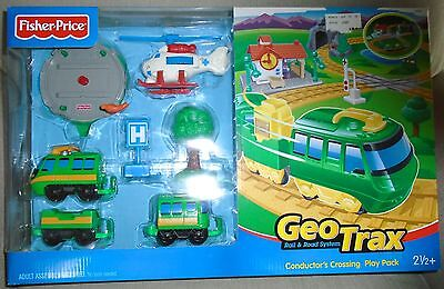 New  Fisher  Price  Geo Trax  Conductor's  Crossing  Play  Pack