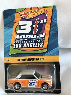 2017 Hot Wheels 31st Convention LA #2 Datsun 510 Bluebird 1 of 3000