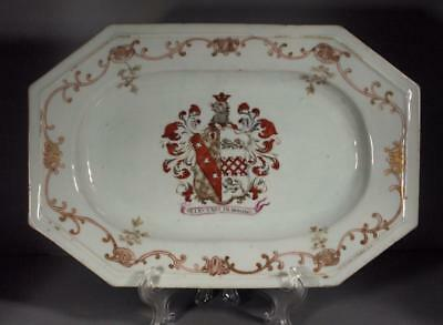 Chinese Export Armorial Platter Early 1700's