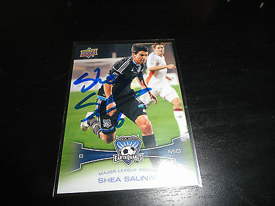 San Jose Earthquakes Shea Salinas Autographed Signed 2012 UD MLS Card