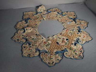 Fabulous Antique Chinese Qing Dynasty Embroidered Robe Collar